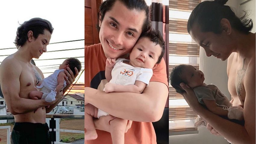 JC Santos with his lovely daughter River