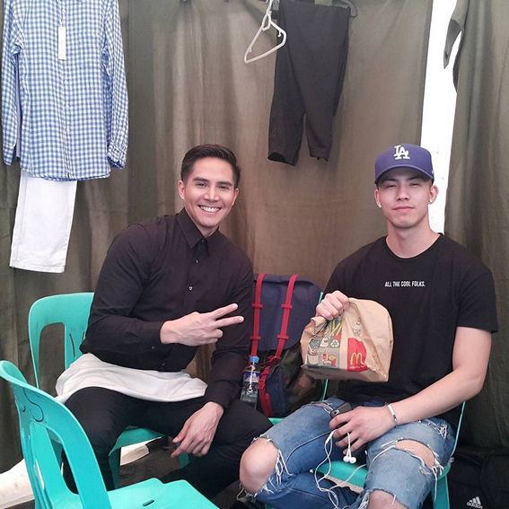 Photos of Tony Labrusca with his father Boom