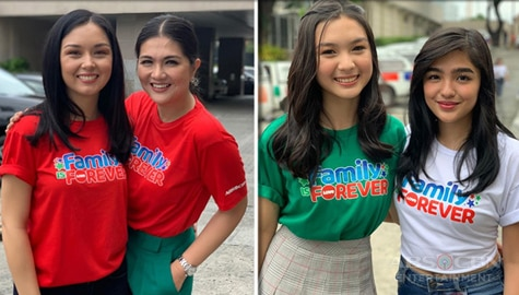 PHOTOS: Kadenang Ginto stars join in celebrating the unwavering love of Pinoys for their families in Family Is Forever Christmas station ID