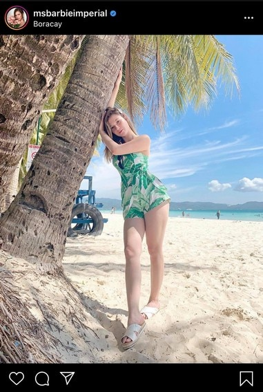 Barbie Imperial shows off sexy curves in rare bikini photos