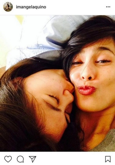 Angel Aquino with her equally beautiful daughters