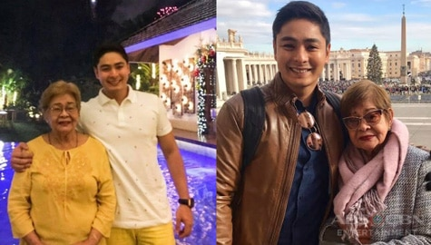 Photos of Coco Martin with his Lola Matilde