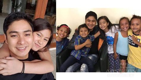 Photos of Coco Martin with his on and off-cam kids