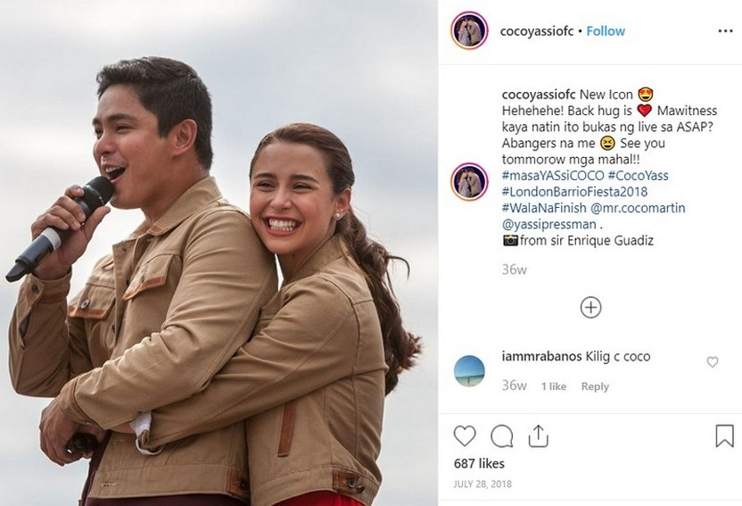 Behind the scenes photos of Coco and Yassi in FPJ's Ang Probinsyano