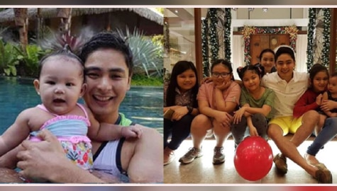 Coco Martin as daddy to his real-life babies