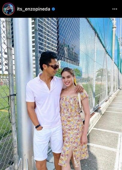 Enzo Pineda with his girlfriend Michelle Vito