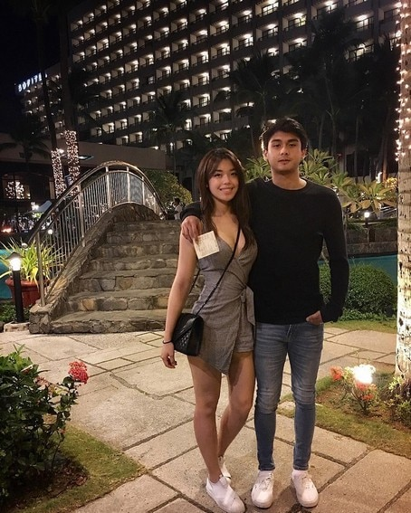 Paulo Angeles with his lovely girlfriend of 3 years