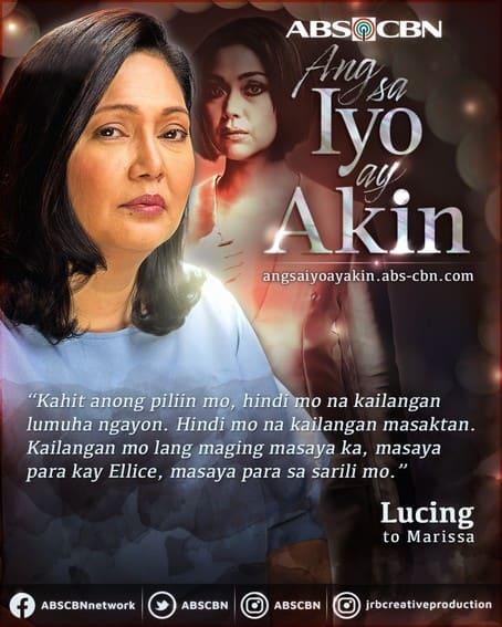 Lucing's heartfelt, profound words that enlighten us on Ang Sa Iyo Ay Akin