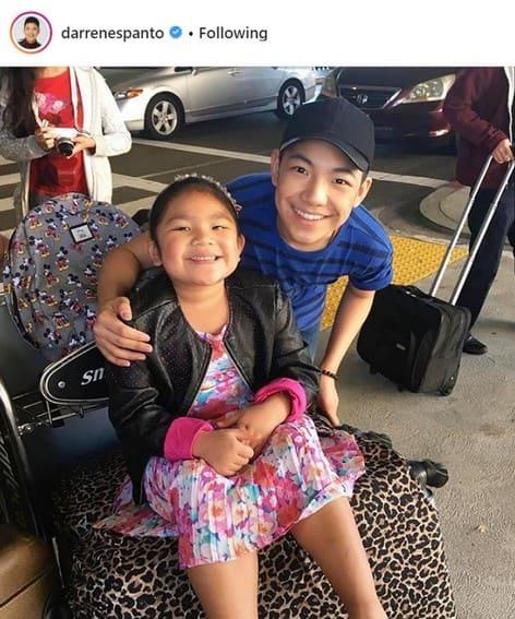 Darren Espanto cute little sister