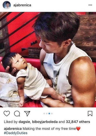LOOK: Aljur Abrenica with his adorable little one