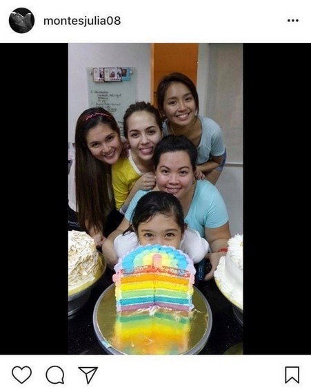 Photos of Julia Montes with her best friend Kathryn Bernardo