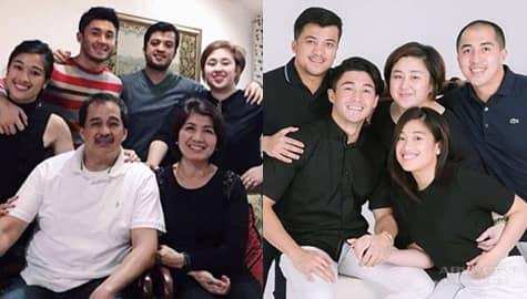 Arron Villaflor with picture-perfect family