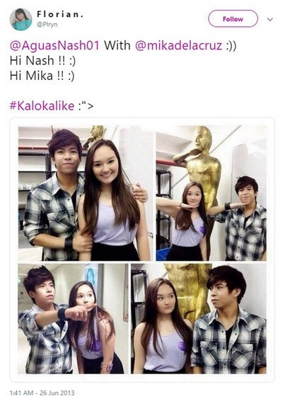 Young and in love! Take a look at these sweet photos of Nash Aguas with Mika Dela Cruz.