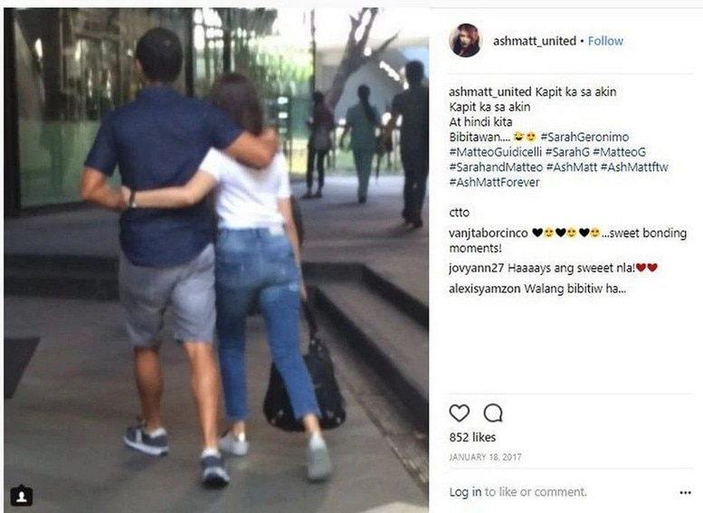 """Just photos of Matteo Guidicelli with his """"forever"""""""