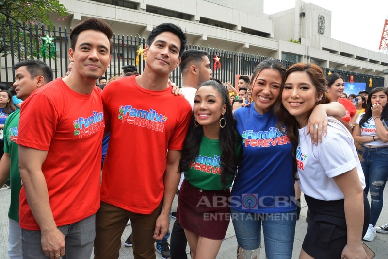 LOOK: Behind-the-scenes moments captured during the shoot of Family Is Forever Christmas Station ID