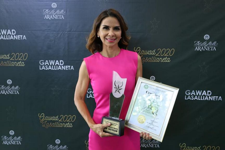 Dyan Castillejo was named Most Outstanding Sports Show Host for Sports U