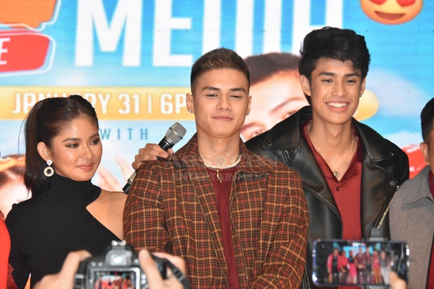Loisa Andalio, Ronnie Alonte and Donny Pangilinan in James and Pat and Dave Presscon