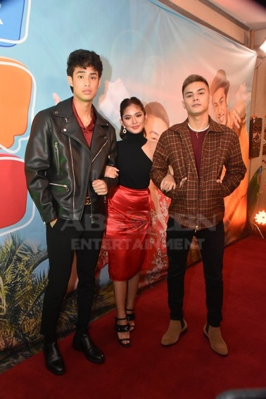 Donny Pangilinan, Loisa Andalio and Ronnie Alonte in James and Pat and Dave Presscon