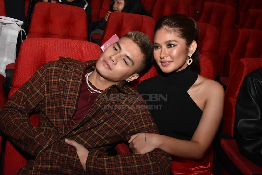 Ronnie Alonte and Loisa Andalio in James and Pat and Dave Presscon