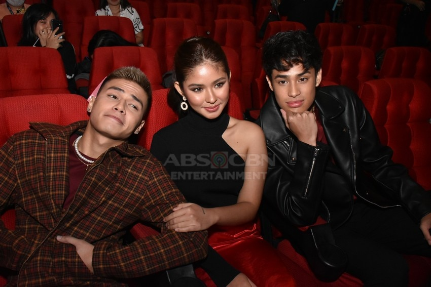 Donny Pangilinan, Ronnie Alonte and Loisa Andalio in James and Pat and Dave Presscon