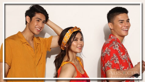 Loisa Ronnie and Donny in James & Pat & Dave Promo Shoot