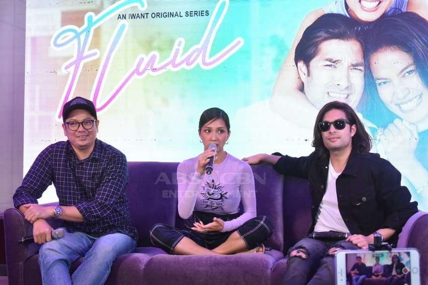 iWant Fluid stars Roxanne and Joross with Director Benedict Mique