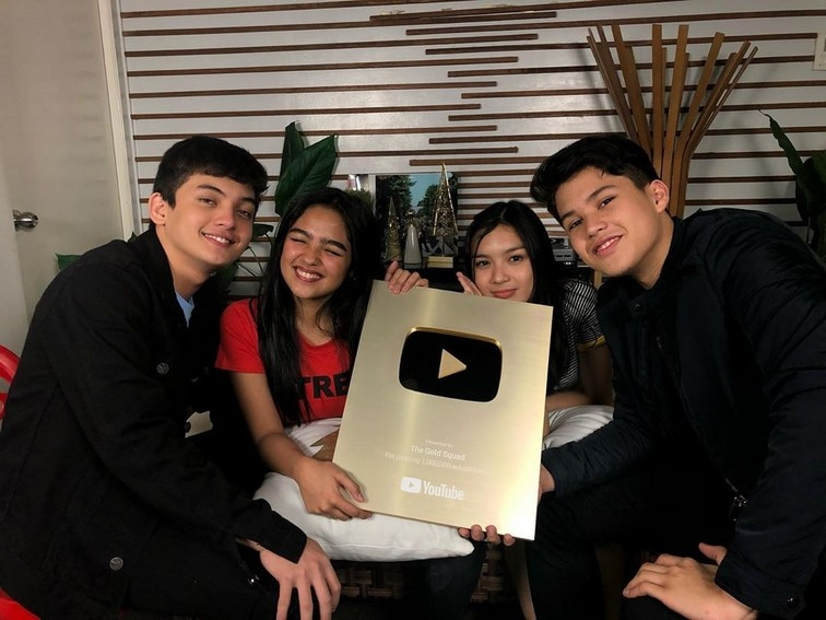 Kapamilya celebrities Gold Play Button