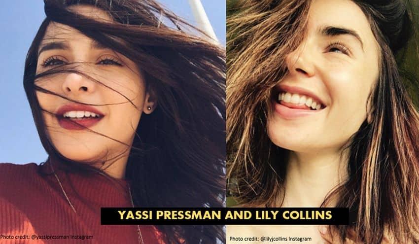 CELEBRITY LOOKALIKES YASSI PRESSMAN LILY COLLINS