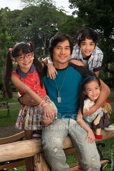 Piolo with Zaijian, Xyriel and Yesha in Hawak Kamay (2014)