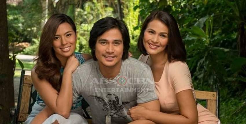 Piolo Pascual, Iza Calzado and Nikki Gil in Hawak Kamay (2014)