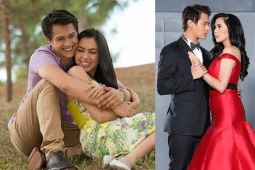 Julia Montes and Enrique Gil in Muling Buksan Ang Puso (2013)