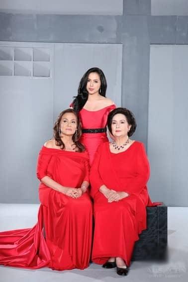 Julia Montes with Susan Roces and Pilar Pilapil in Muling Buksan Ang Puso (2013)