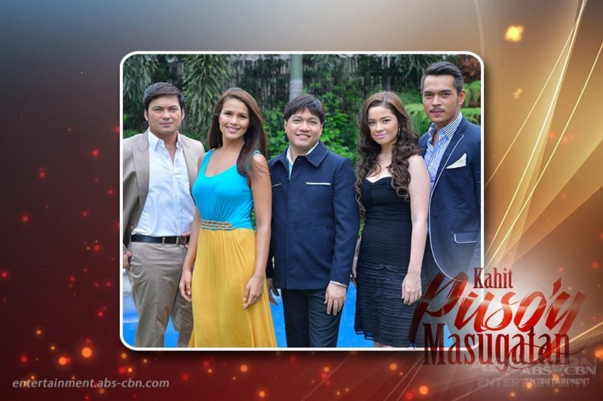 Director Wenn Deramas with the lead stars of Kahit Puso'y Masugatan (2012)