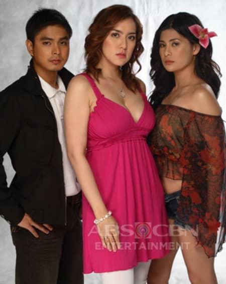 Coco Martin, Roxanne Guinoo and Ara Mina in Ligaw Na Bulaklak (2008)