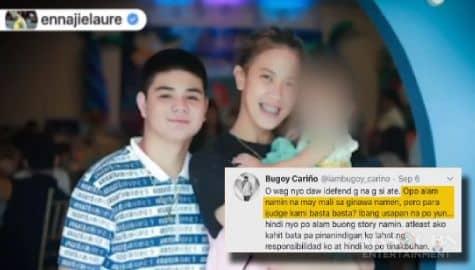 TV Patrol: Bugoy Cariño, sinagot ang mga batikos sa kanila ng volleyball star na si EJ Laure Image Thumbnail