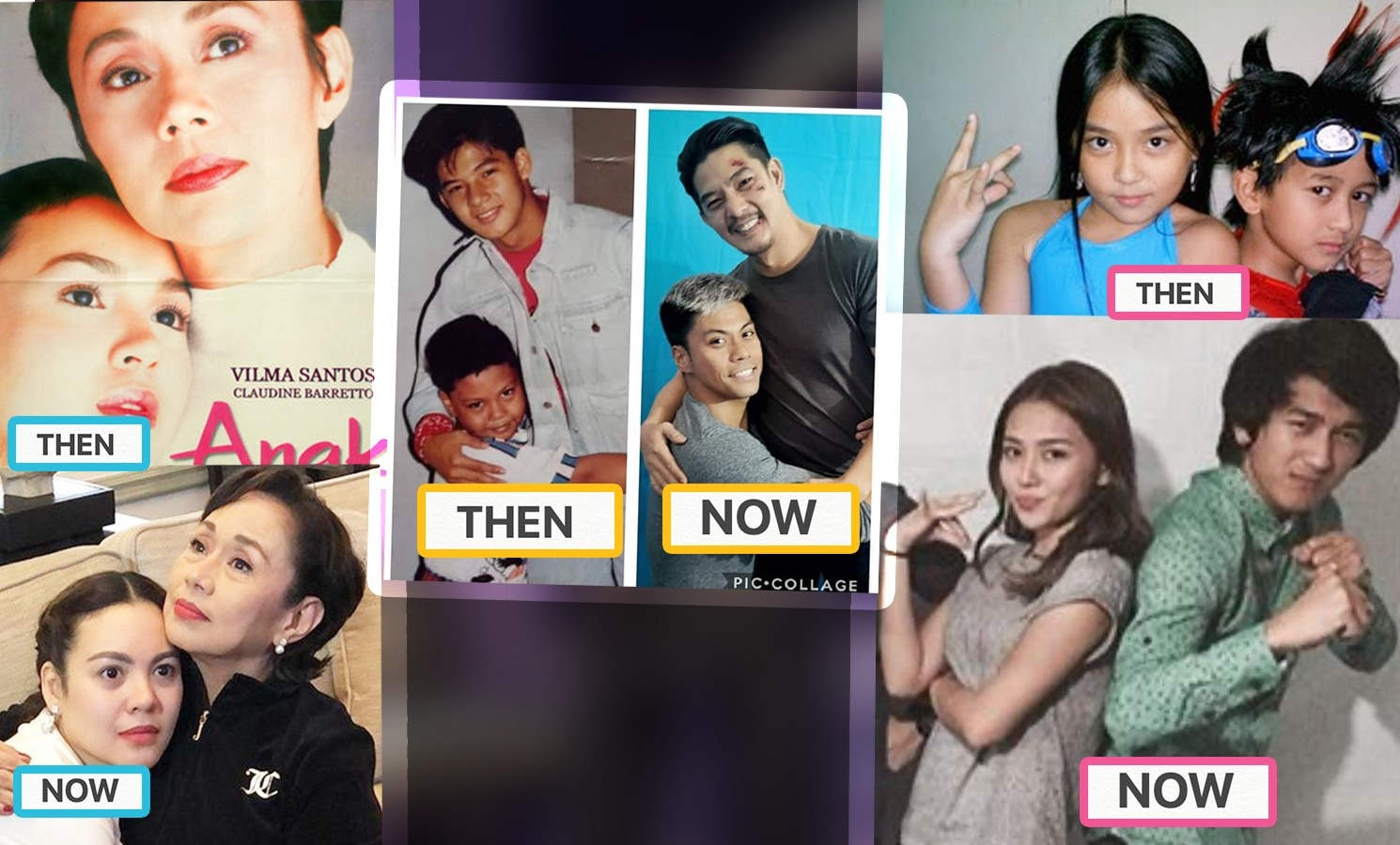 Check out these celebrities who recreated their throwback photos!