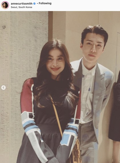 Anne Curtis with Exo's Sehun
