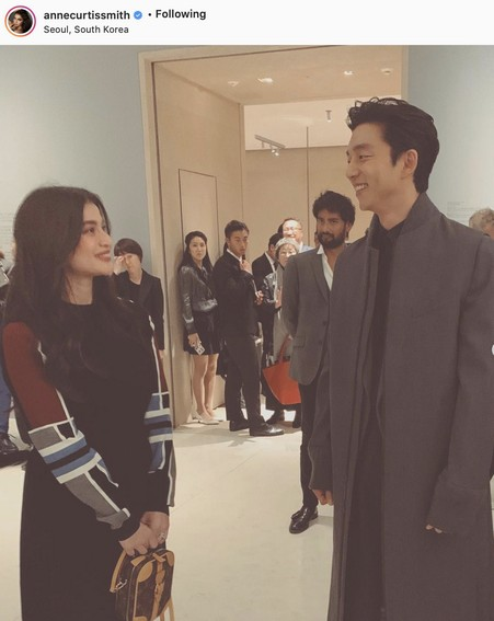 Anne Curtis with her ultimate Korean crush Gong Yoo