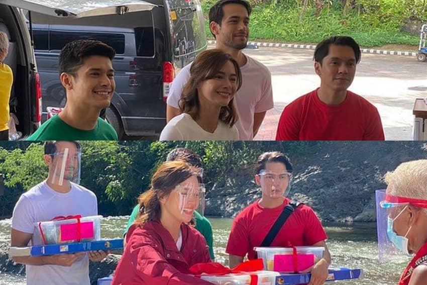 """LOOK: The stars of La Vida Lena at the """"Ikaw Ang Liwanag At Ligaya"""" ABS-CBN Christmas ID shoot"""