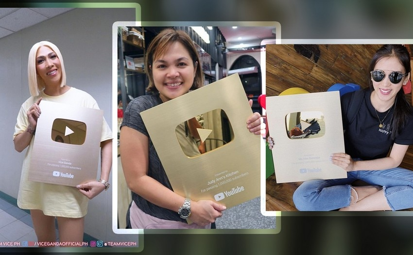 Kapamilya celebs proudly showing off their Gold Play Button Awards!