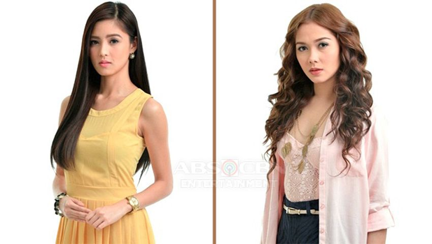 Kim as Celyn and Maja as Margaux in Ina Kapatid Anak (2012)