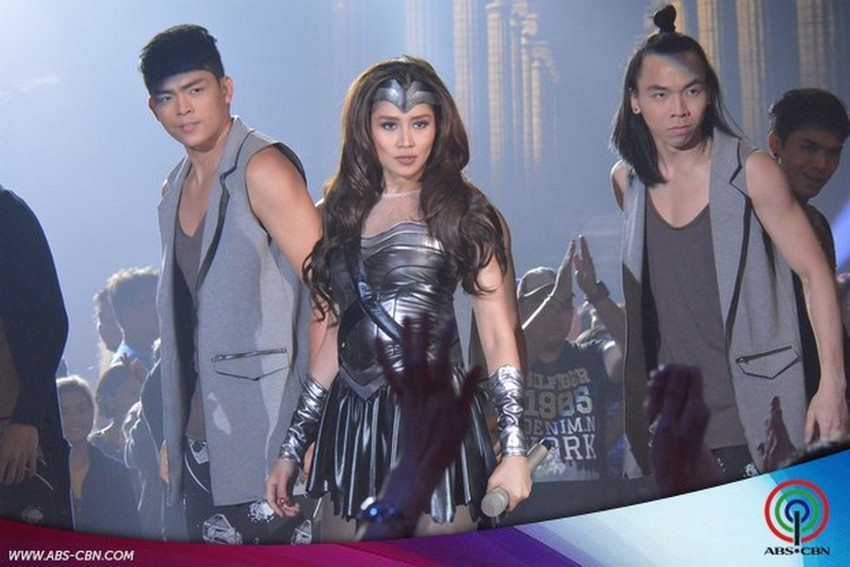 Filipina celebrities in superhero costumes