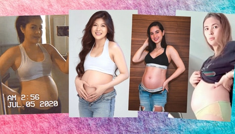 Check out these celebrity moms who gave us a glimpse of their pregnancy journey through these photos!