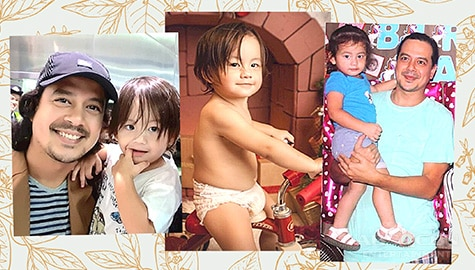 LOOK: Check out these rare photos of John Lloyd as a doting father to Elias
