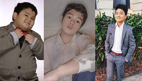 Transformation photos of Goin' Bulilit graduate Clarence Delgado