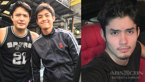"""IN PHOTOS: Grae Fernandez with his equally """"gwaping"""" father"""