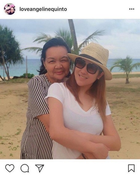 My Greatest Blessing! Angeline Quinto with her lovely Mama Bob