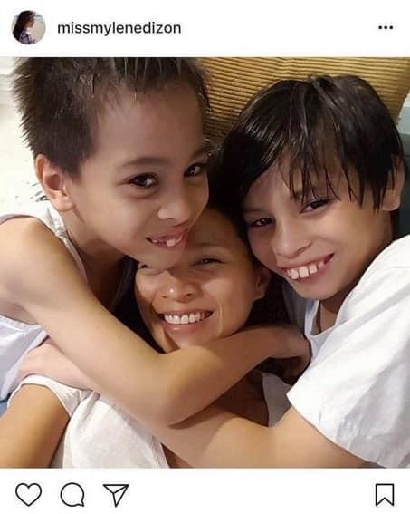 Mylene Dizon with her lovable boys