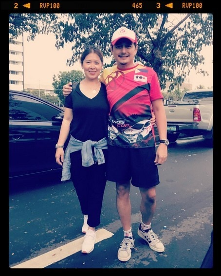 Dominic Ochoa with beloved wife of 12 years