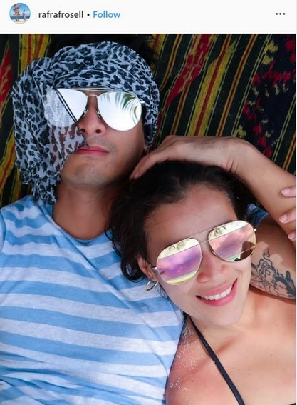 Rafael Rosell with her loving partner of 5 years